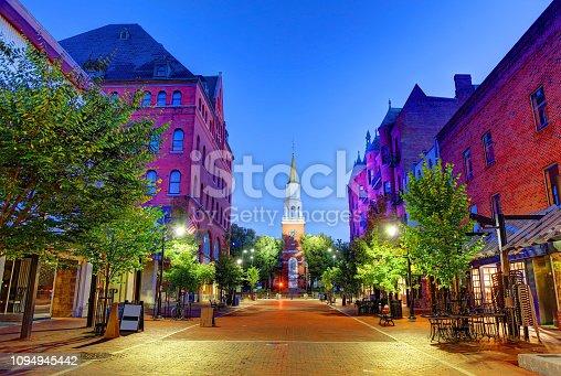 istock Church Street Marketplace in Burlington, Vermont 1094945442