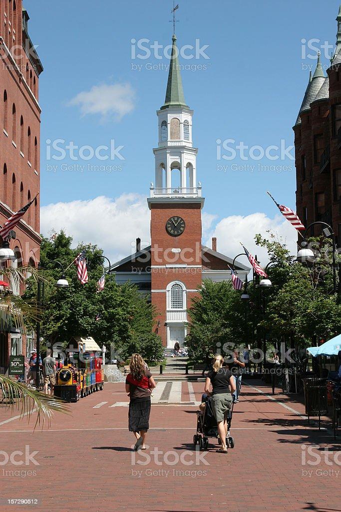 Church Street Marketplace royalty-free stock photo