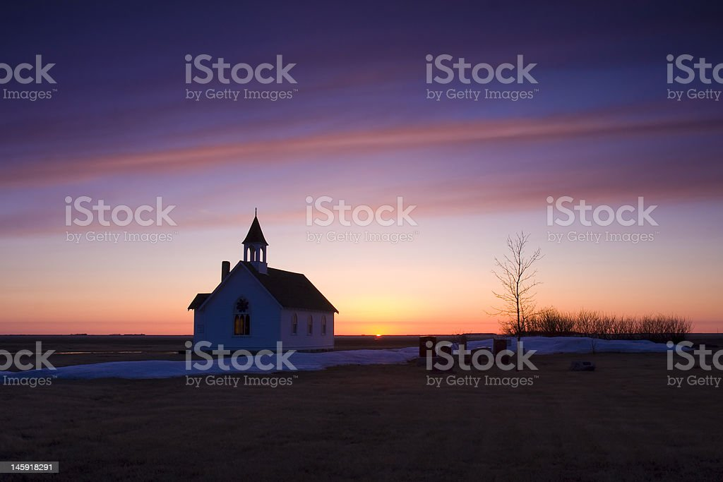 Church  Sunrise in Spring royalty-free stock photo