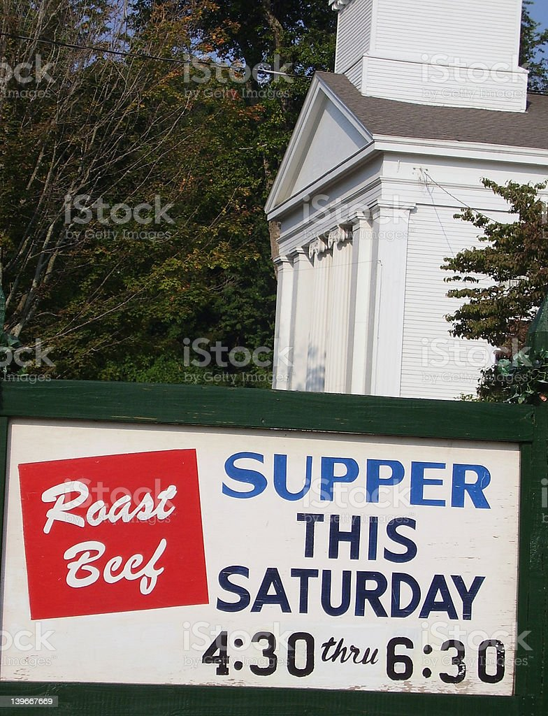 Church Supper royalty-free stock photo