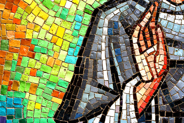 Church tiles This is A Mosaic Tile of a Hand at a Cathedrial religious saint stock pictures, royalty-free photos & images