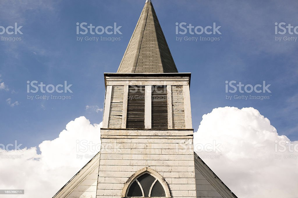 Church Tower and Clouds royalty-free stock photo