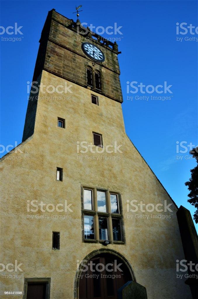 Torre de igreja em Anstruther - Foto de stock de Aldeia royalty-free