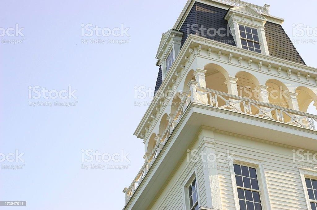Church Tower in Grand Coteua royalty-free stock photo