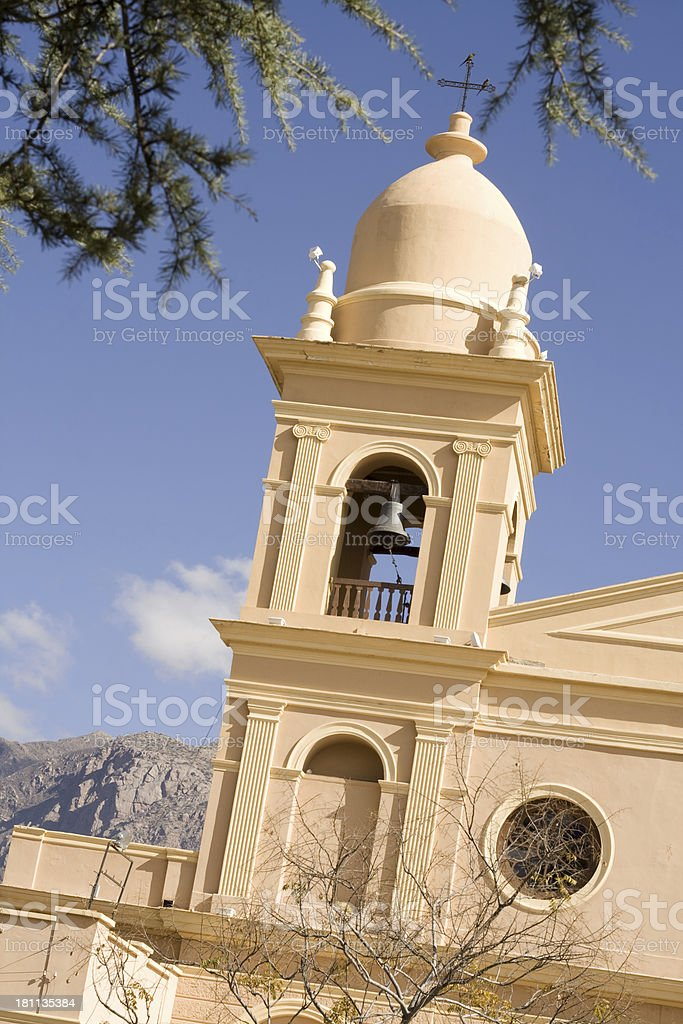 Church tower, Salta Province, Argentina royalty-free stock photo