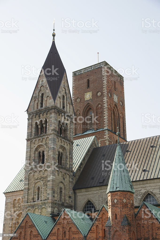 church towers in Ribe royalty-free stock photo