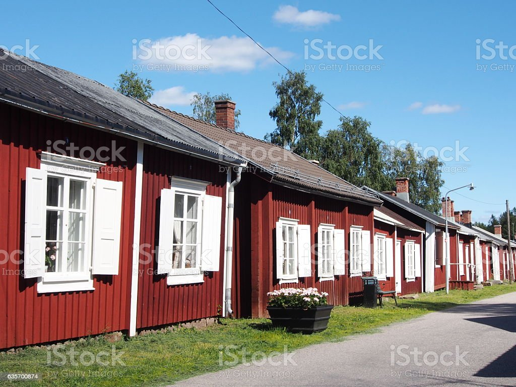 Church town cottages royalty-free stock photo