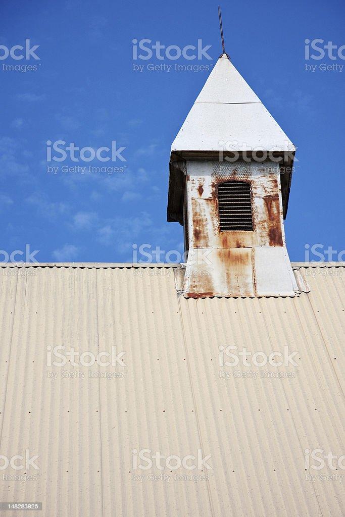 Church turret stock photo