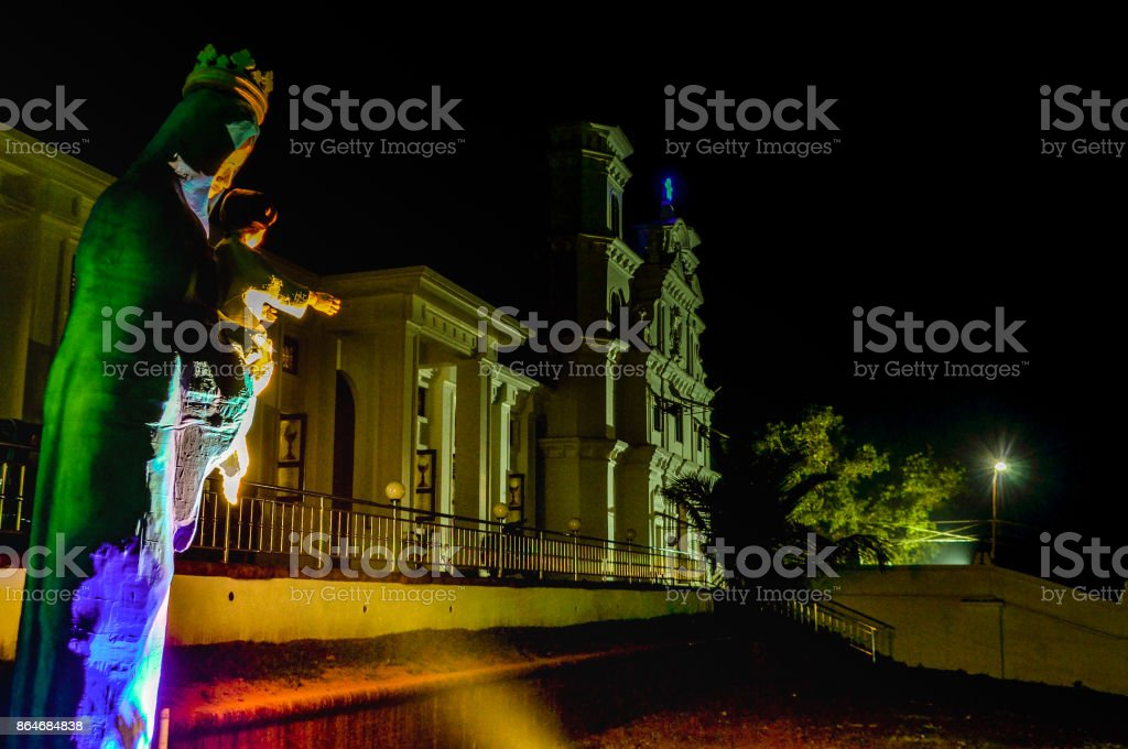 Church view on New Years Eve stock photo