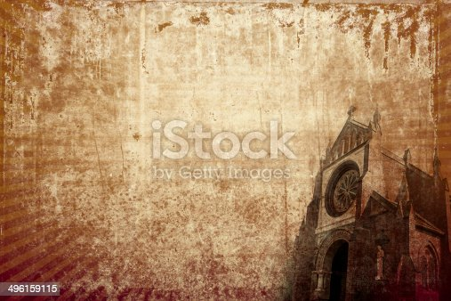 istock Church vintage background (horizontal) 496159115