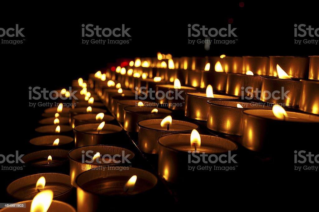 Church Votive Candles stock photo