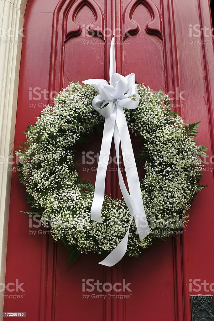 Church Wedding Decorations Wreath Stock Photo More Pictures Of