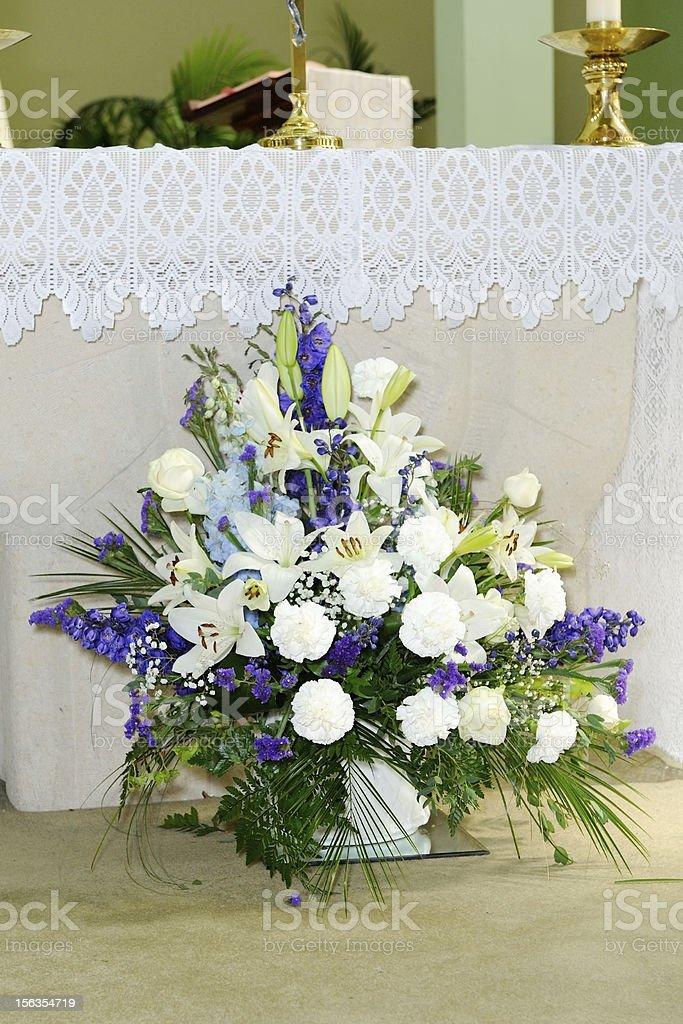 Church wedding flowers royalty-free stock photo
