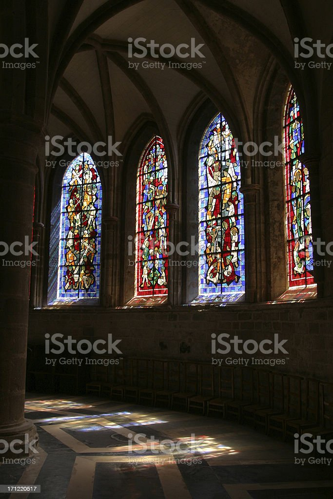 church windows and reflections royalty-free stock photo