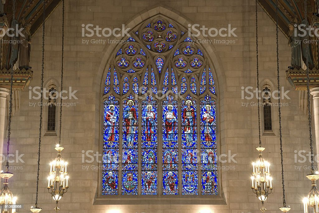 Church windows stock photo