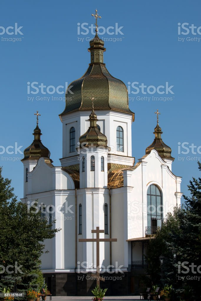 Church with dome stock photo
