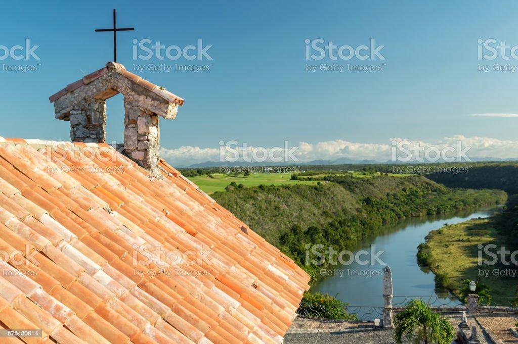 Kilise manzaralı. royalty-free stock photo