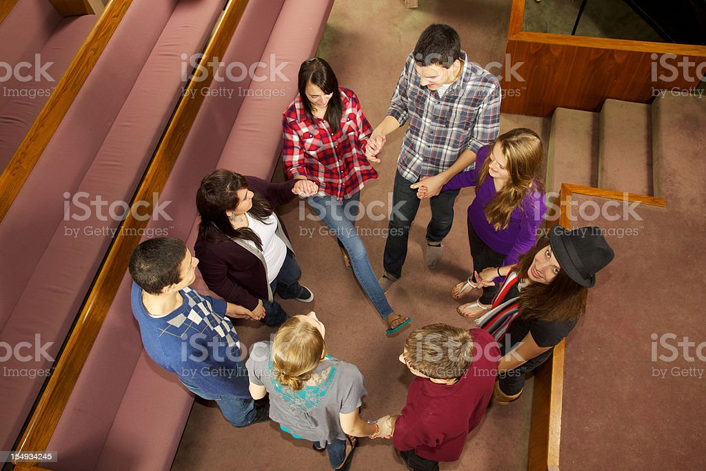Church Youth Group Circle royalty-free stock photo