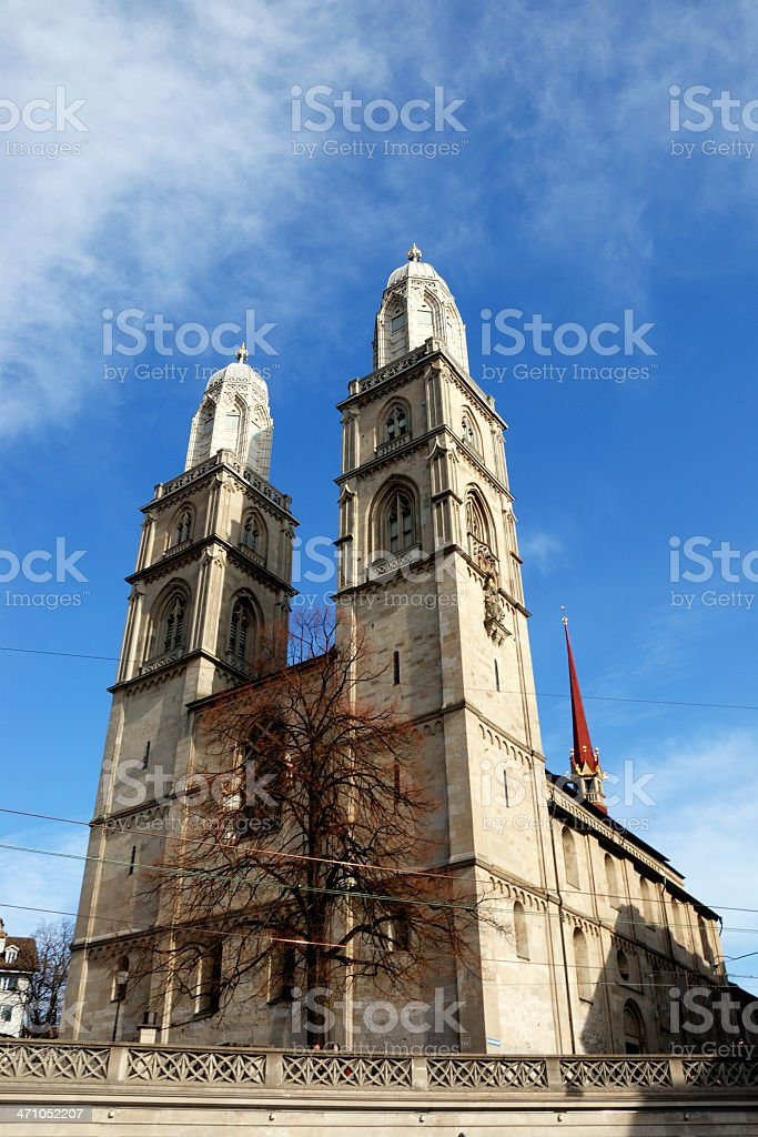 church zurich royalty-free stock photo