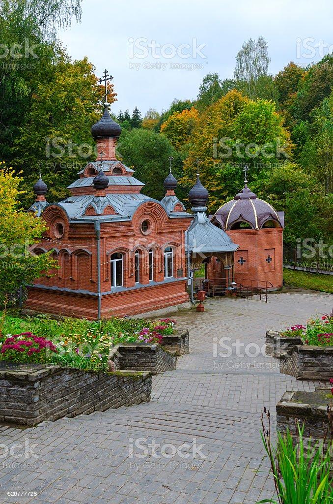 Church-Chapel of Holy Great Martyr Paraskeva, Polykovichskaya Krynica, Belarus stock photo