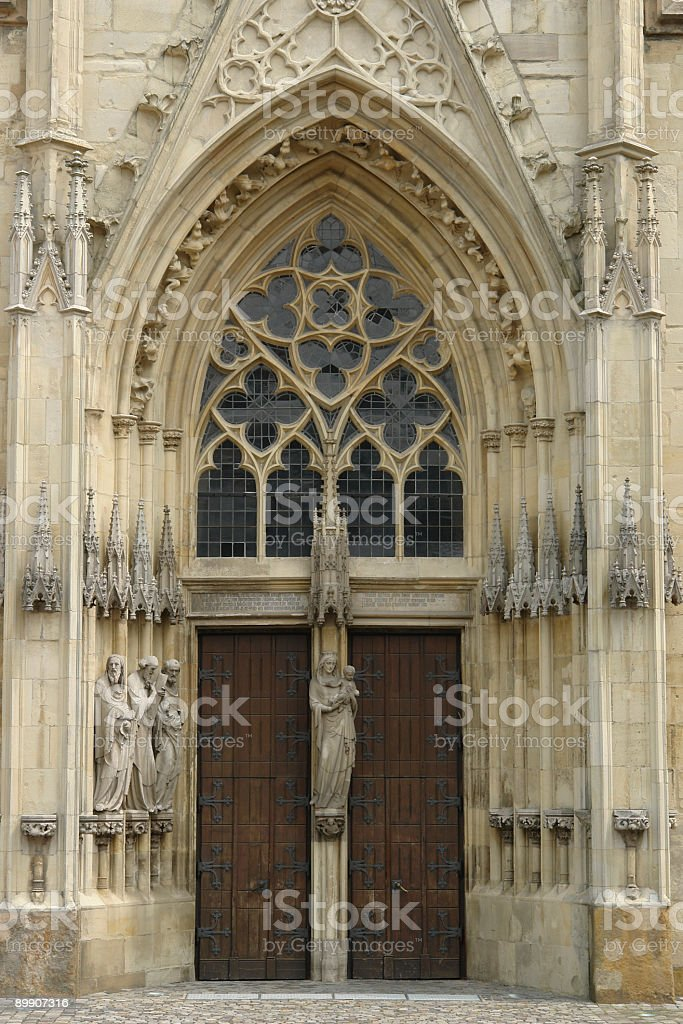 church-door royalty-free stock photo