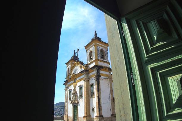 Churche de São Francisco de Assis, Mariana, MG, Brasil. - foto de acervo