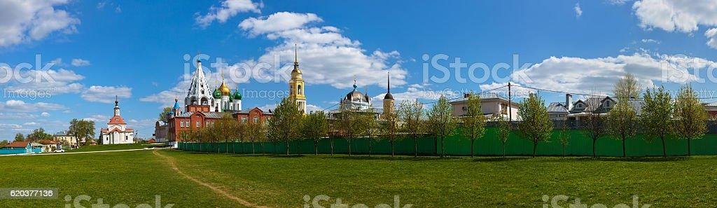 Kościoły w Kolomna Kremla-Rosja Moskwa region zbiór zdjęć royalty-free