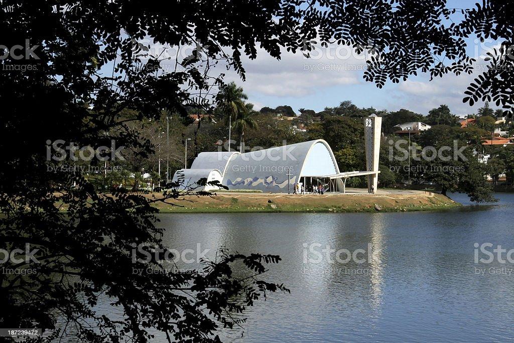 Churches in Latin america Brazil on Belo Horizonte stock photo