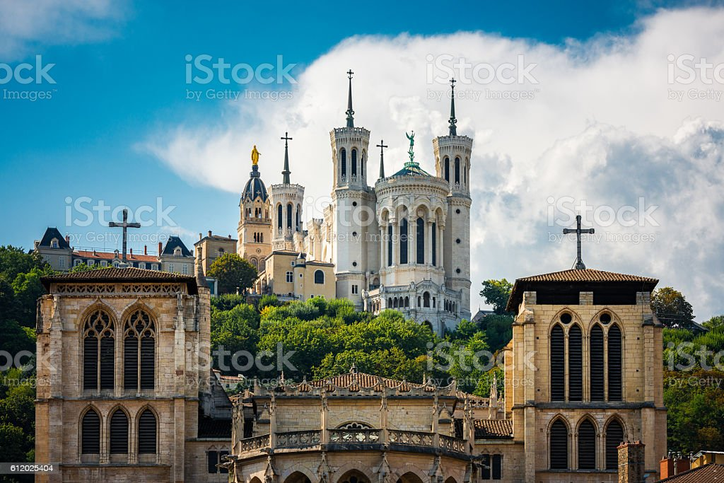 churches in Lyon stock photo