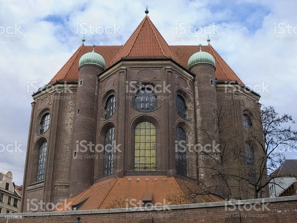 Churches in Munich: St. Peter royalty-free stock photo