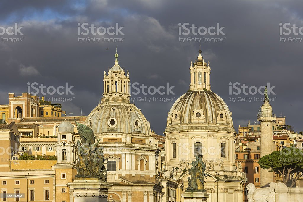 Churches in Rome stock photo