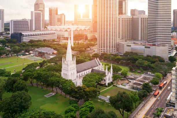 Kirchengebäude in der Stadt Singapur – Foto