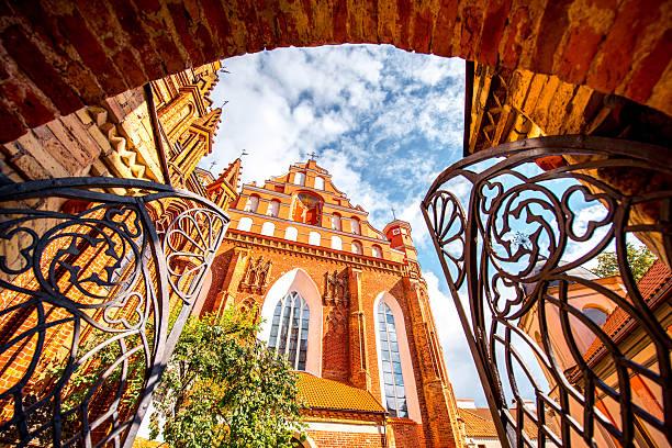 Churches in Vilnius stock photo