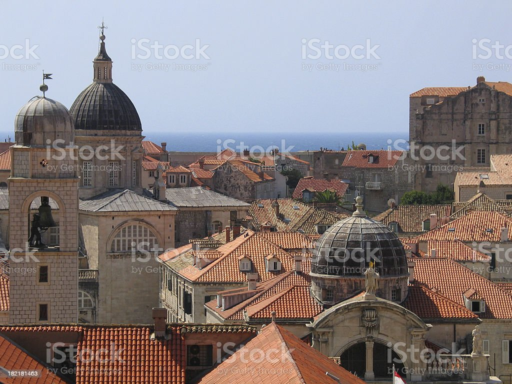 Churches of Dubrovnik royalty-free stock photo