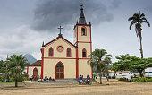 Churches of Santo Antonio, capital of Principe Island, Sao Tome and Principe, Africa