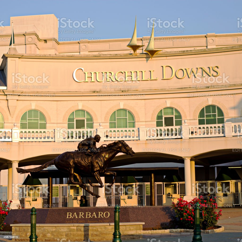 Churchill Downs Barbaro Entrance and Façade stock photo