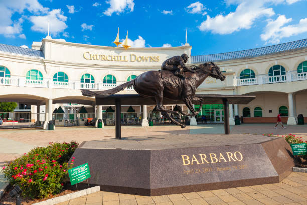 Churchill Downs In Louisville, Kentucky stock photo