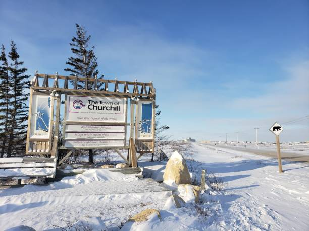 Churchill Manitoba Canada stock photo