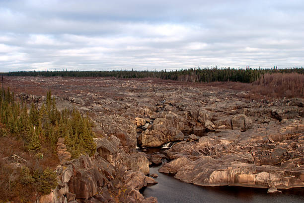 Churchill River Bed stock photo