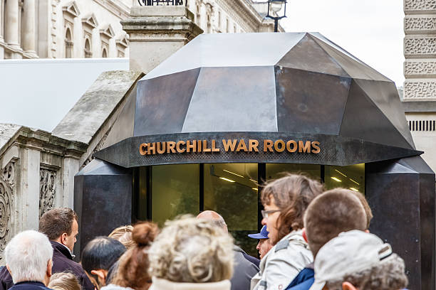 churchill war rooms in london - london themenzimmer stock-fotos und bilder