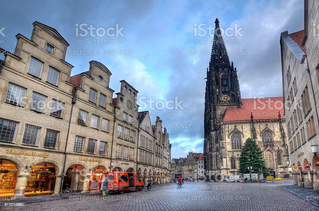 Churchtower of Munster, Germany stock photo