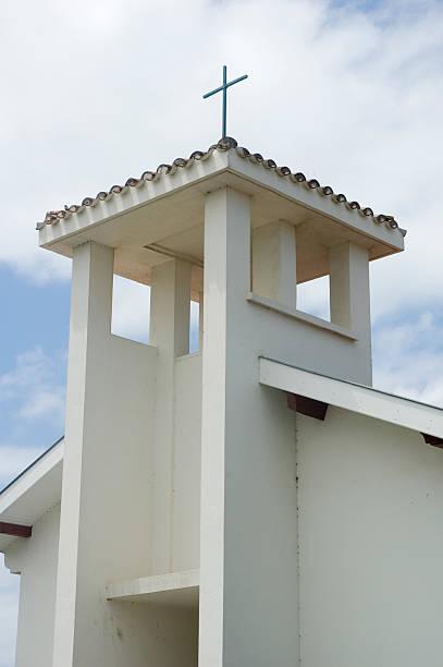 Churchtower stock photo