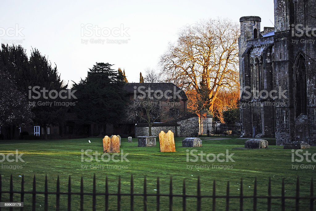 Churchyard in Winchester UK royalty-free stock photo