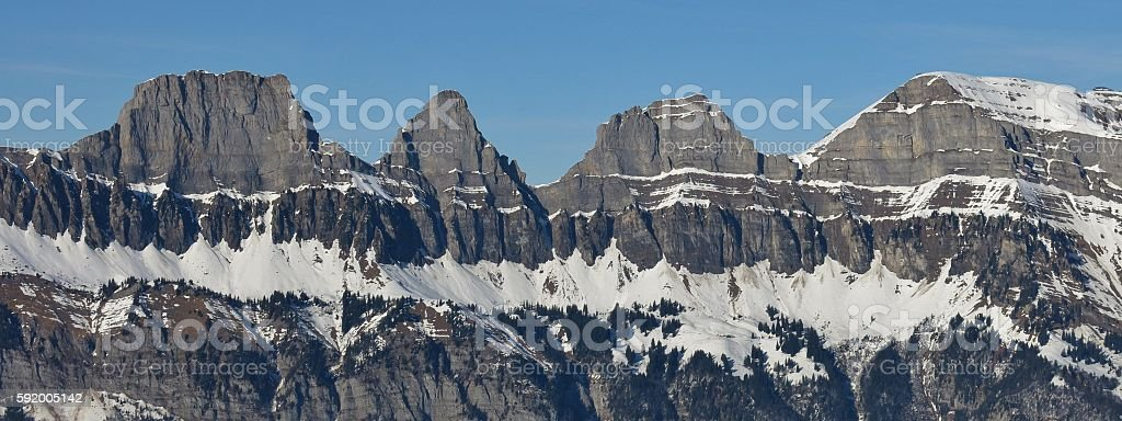 Churfirsten Range, Swiss Alps stock photo