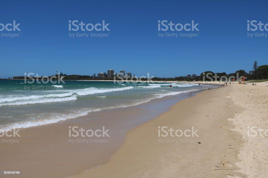 Churinga Park Alexandra Headland at Sunshine Coast, Queensland Australia stock photo