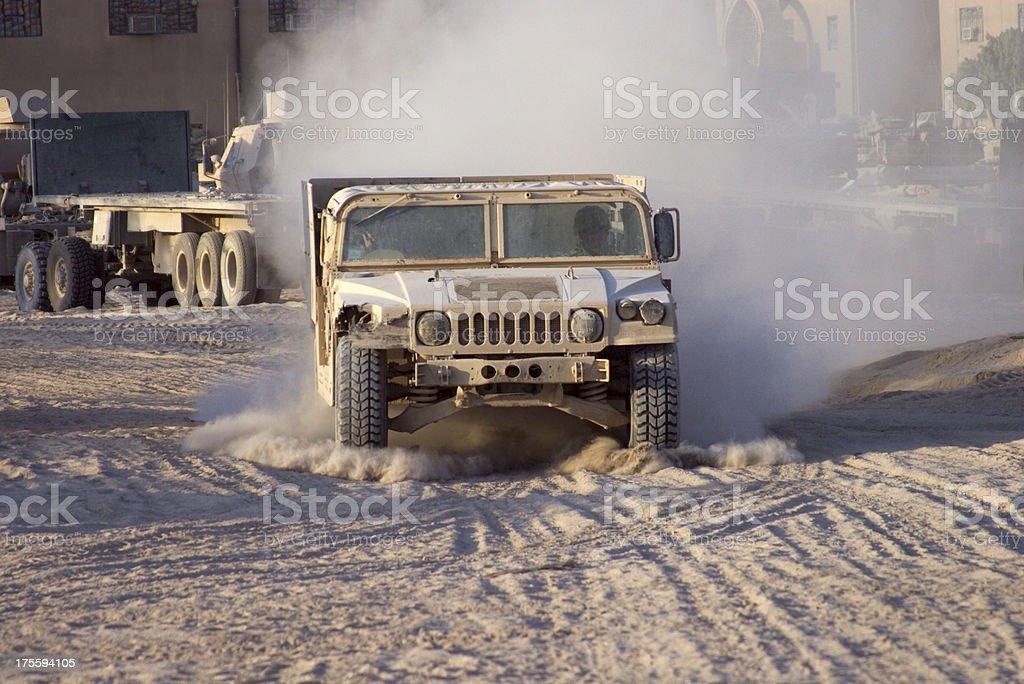 Churning Dust stock photo
