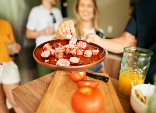 Churrasco is the perfect party meal stock photo