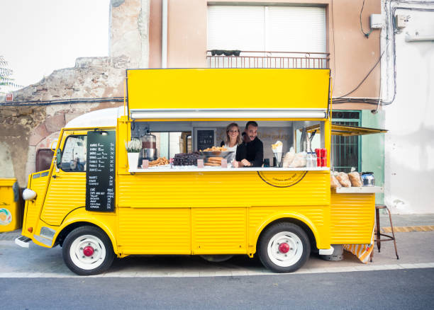 Churreria,food truck stock photo