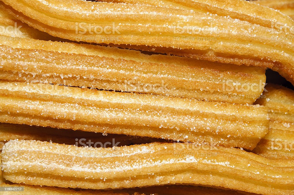 churros, typical Spanish sweet royalty-free stock photo