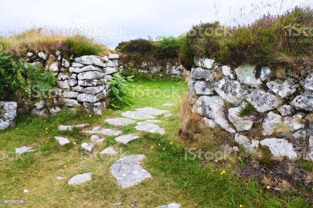 Chysauster Village stock photo